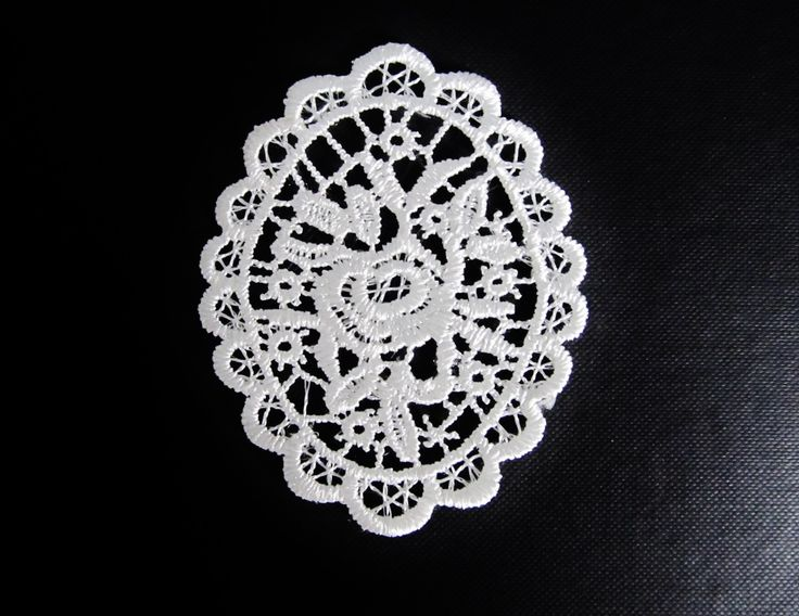 Belle applique dentelle Camée blanche 80 x 65 mm : Déco, Customisation Textile par sylvia21