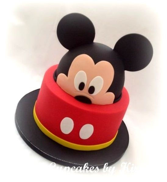 Mickey Mouse Birthday Cakes and cupcakes <3