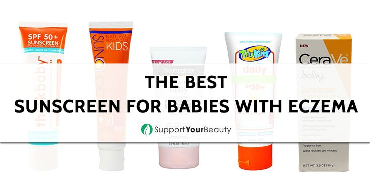 The Best Sunscreen For Babies With Eczema – 2017 Reviews & Top Picks - Check it out here https://supportyourbeauty.com/best-sunscreen-for-babies-with-eczema/ on Support Your Beauty!  #Sunscreens #beauty #EczemaProducts