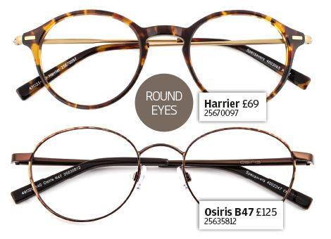 Get the look - round eyes specs