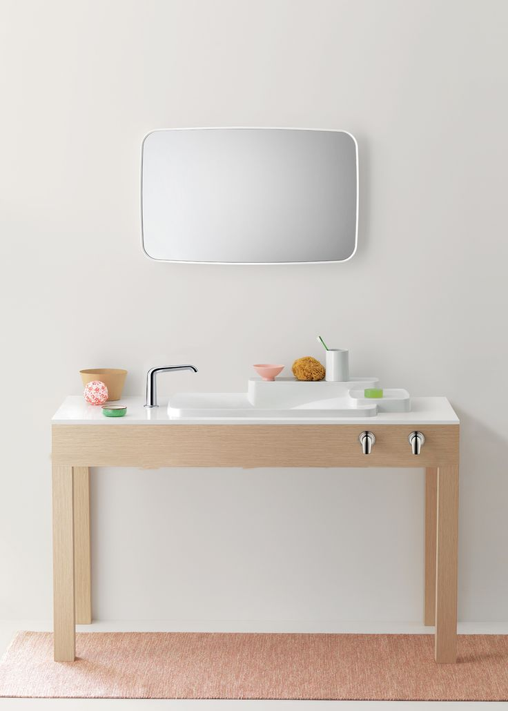Dress your bathroom in unique products from this collection that incorporate eco-friendly faucets and multi-functional sinks that come with shelves. Here is where individuality meets high-quality.