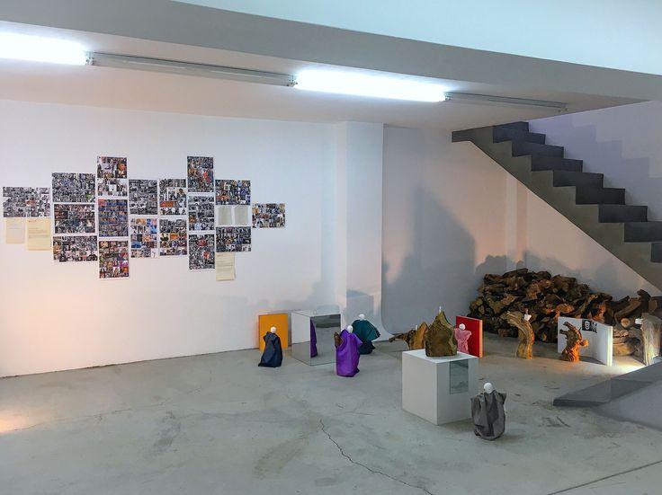 "Dimitra Vamiali,  ""Bob, David, legends and beings"",  mixed media installation, 2016"