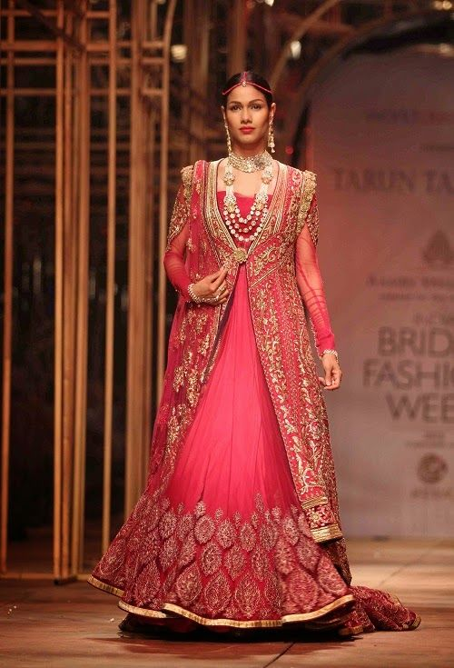 Indian Bridal Fashion Pink Color Drees