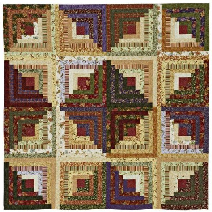 Creative Log Cabin Layout Quilting Logs Pinterest