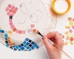 Magazine Mosaic - Step 4: Paper Mosaics Art Projects, Indoor Activities, Activities For Kids, Old Magazines, Magazines Crafts, Magazines Mosaics, Mosaics Step, Mosaics Tile, Paper Mosaics Crafts