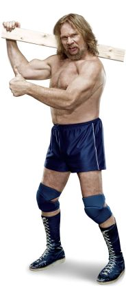 """Hacksaw Jim Duggan  Height: 6'3""""  Weight: 270 lbs.   From: Glens Falls, N.Y.   Signature Move: Three Point Stance Clothesline  Career Highlights: United States Champion; WCW Television Champion; Royal Rumble Match winner; 2011 WWE Hall of Fame Inductee"""