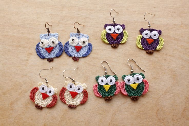 Owl Earrings (Available in different colors and sizes)