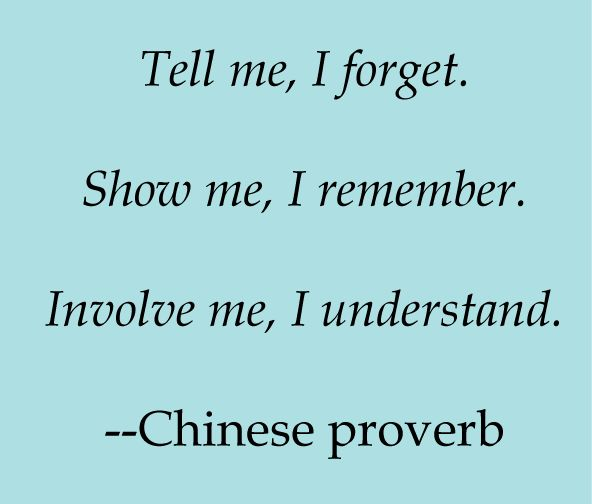 - Chinese proverb - !!! Teach your children well!