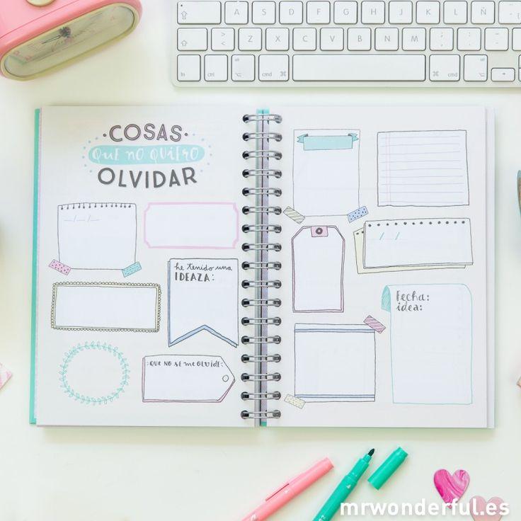 25 best ideas about agenda wonderful on pinterest mr for Plantillas mr wonderful
