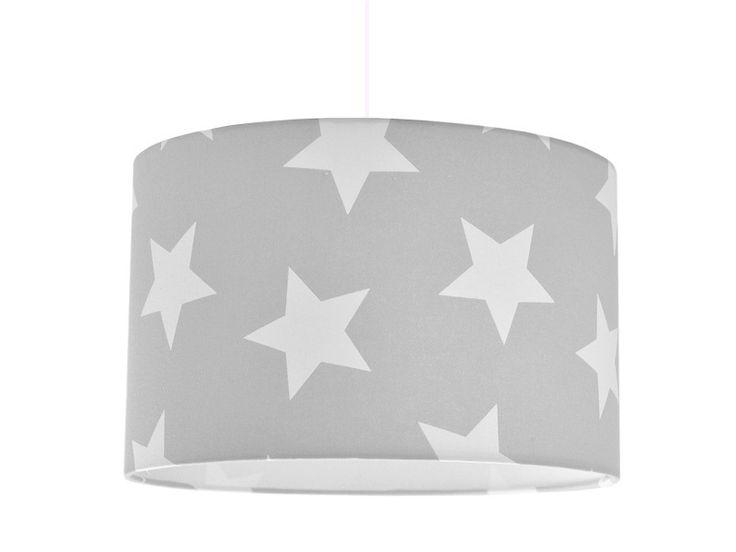 Lampenschirm Grau Sterne