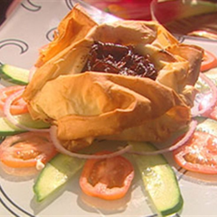Try this Blue Cheese and Onion Jam Filo recipe by Chef James Reeson. This recipe is from the show Alive and Cooking.
