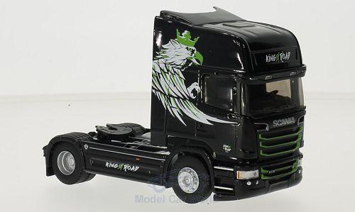 Scania R730 Streamline TL, schwarz/Dekor, King of The Road