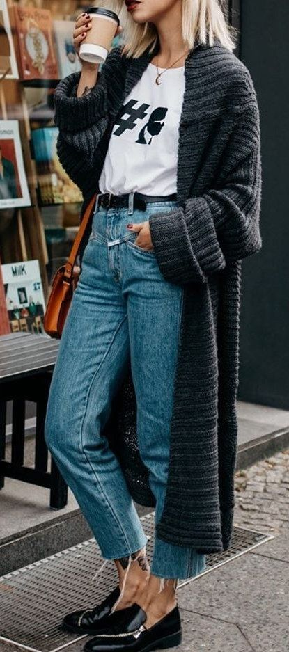 Dark Trench + Printed Tee                                                                             Source