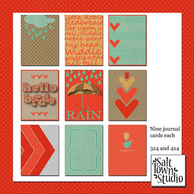 Free Hello Birdie Journal Cards from Salt Town Studio {store checkout required}
