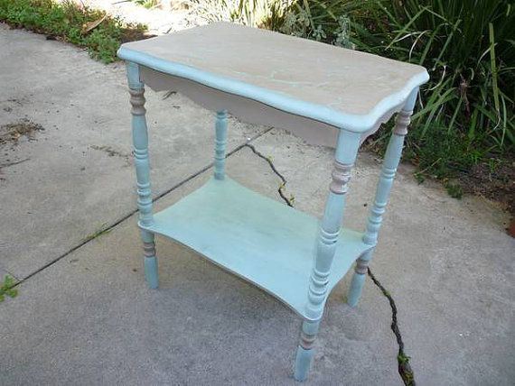 Hand Painted Antique Accent Sidetable By Missionmakeover On Etsy, $80.00