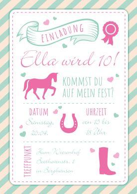 69 Besten 10 Geburtstag Einladungskarten Bilder Auf Pinterest