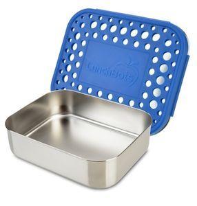 LunchBots Uno matboks i stål. Blue.\r\nLunchBots Uno er en helt enkel, praktisk 1-lags matboks og 1-roms matboks i rustfritt stål. Boksen har ingen pakninger, så den holder ikke på flytende. Den er enkel å åpne og lukke, og holder seg fin i åresvis. Større
