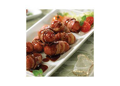 Petites saucisses au bacon à la sauce soya barbecue