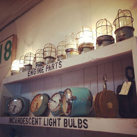 Our Osaka table lamps and marine clocks on display at our Fitzroy store! http://www.mulbury.com.au/collections/clocks http://www.mulbury.com.au/collections/ship-lights