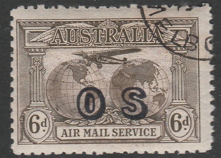 6d Kingsford Smith Airmail Opt OS