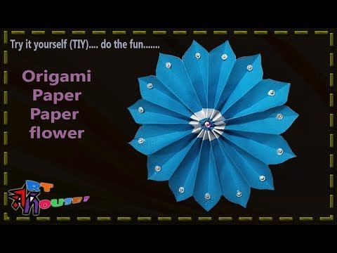 Very very easy origami beautiful paper flower by Art House | Paper desig...