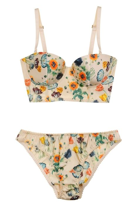 want. just wish the waist was higher.: Fashion, Floral Prints, Lingerie Set, Style, Swimsuits, Bridal Lingerie, Good, Stellamccartney, Stella Mccartney Lingerie