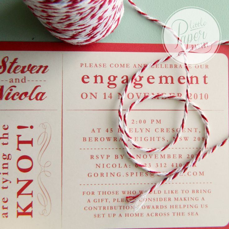 deliciously red and vibrant card with a stripy twine.