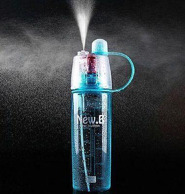 Blue Sport Travel Water Bottle Portable Leak-proof Cycling Cup Spray Bottles