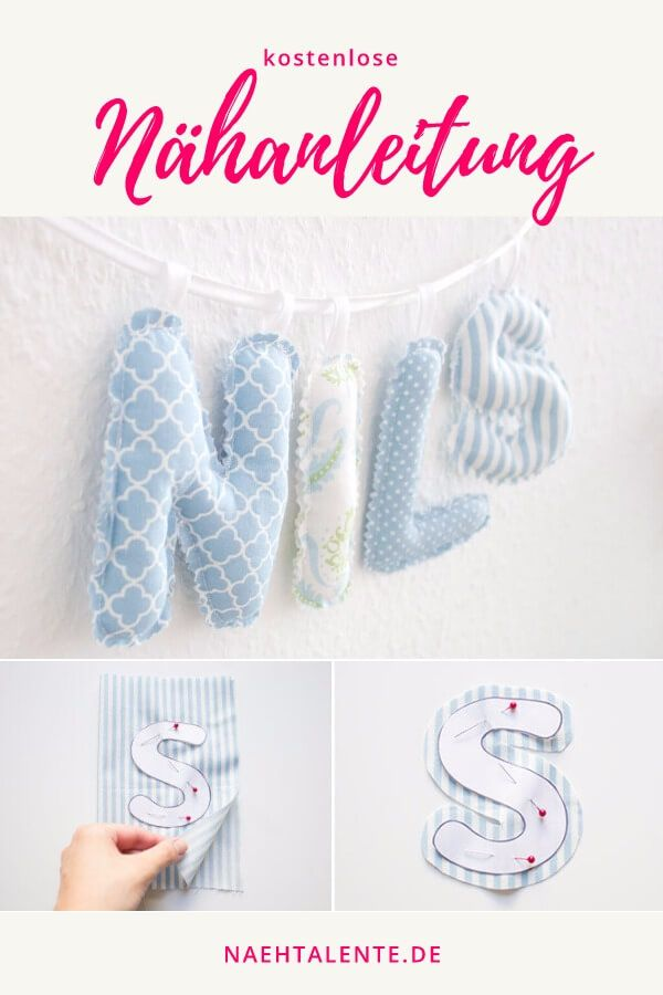 Free Sewing Kit Letter Chain for the nursery – Sewing Pattern – Sewing …   – nähen