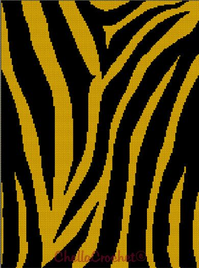 For Caleb. Crochet Tiger Stripes pattern graph.