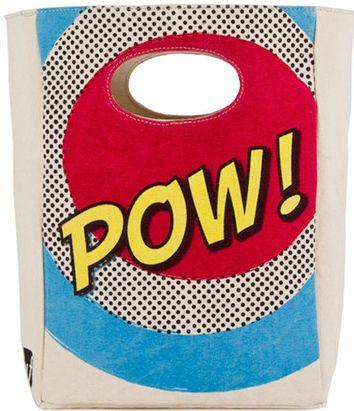 Fluf organic cotton POW Lunch Bag - http://www.mylittlegreenshop.com/ProductDetails.asp?ProductCode=MEAL_fluf_lunch_bag
