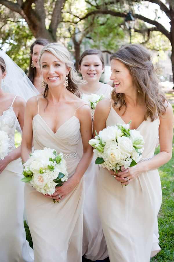 cream bridesmaid dresses | Nate Henderson
