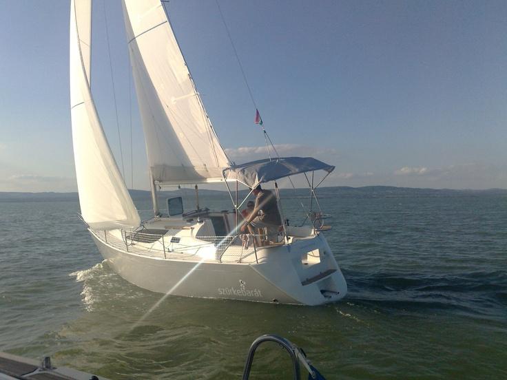 balaton 295 under sail