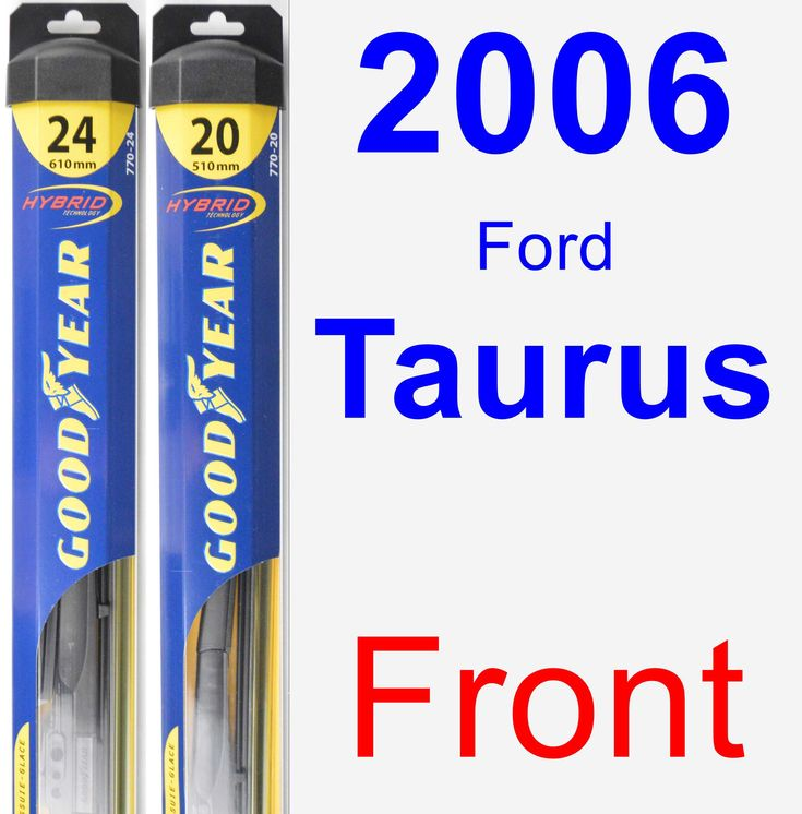 Front Wiper Blade Pack for 2006 Ford Taurus - Hybrid