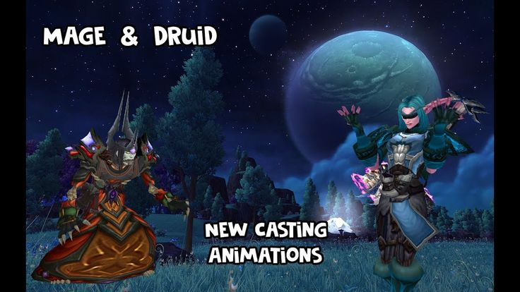 New Mage & Druid casting animations coming in 7.3 ( Also a new Blood Elf female ranged animation ) #worldofwarcraft #blizzard #Hearthstone #wow #Warcraft #BlizzardCS #gaming