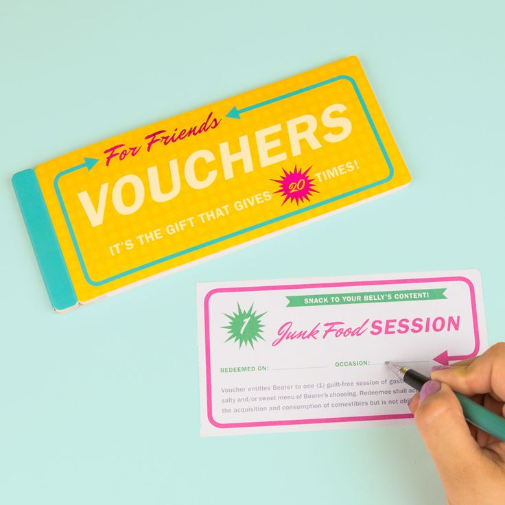 Vouchers For Friends Best Friend Gifts Gifts For