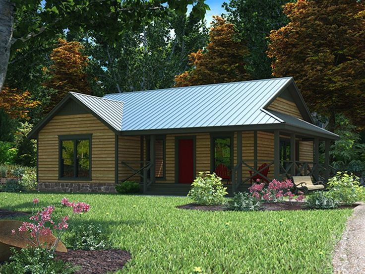 Eplans Country House Plan - Three Bedroom Country - 1094 Square Feet and 3 Bedrooms from Eplans - House Plan Code HWEPL69466