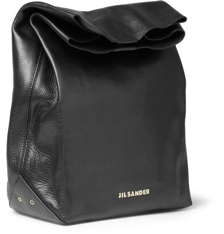 Putting a twist on the traditional brown paper grocery bag, Jil Sander has released this Leather Lunch Bag inspired by the humble brown paper bag.