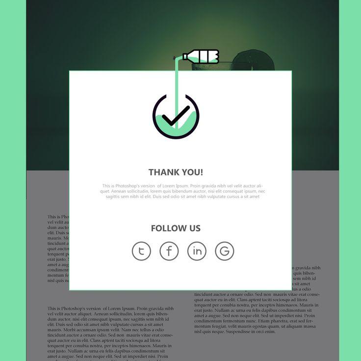 Day #054. Follow. 100 days of UI. #100DaysOfUI #UI #WebDesign #design #вебдизайн #spb #valerie #valeriegoncharenko #art #webpage #UIelements #web #bar #cocktail #green