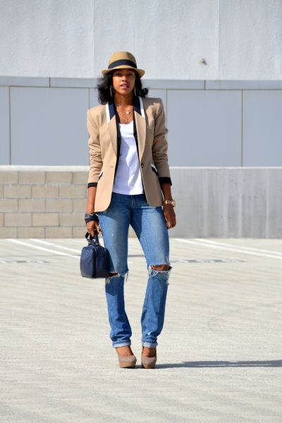 Marquise Christina Brown - Layering Blazers + The Fedora - Fashion Climaxx