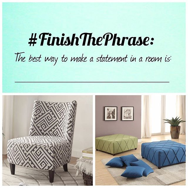 Let's play #FinishThePhrase! Leave your answers in the comments below  http://www.modernfurniturecanada.ca/valentina-accent-chair-grey-white-p-32634.html  https://www.homedepot.ca/en/home/p.alyssa-cktl-ottoman-with-4-pillows-grey.1000856030.html