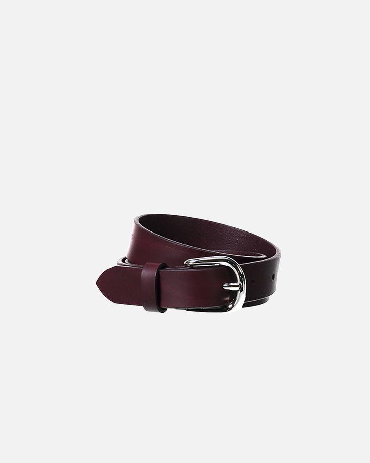 Zap Leather Belt - Burgundy