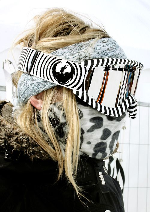 Monochrome print and pattern mishmash at the X Games 2013, Tignes.