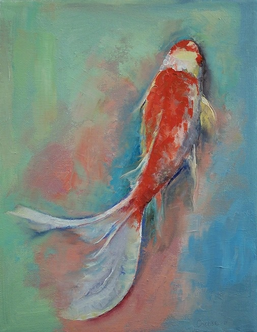 Pearl banded koi by michael creese koi art art and for Koi fish pond for beginners