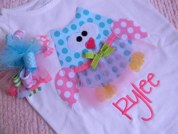 EXCLUSIVE Ballerina Owl Applique T Shirt Set for by BubbleBabys, $29.95