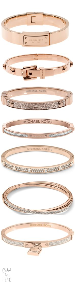 Michael Kors / Rose Gold Jewelry ~~ My favorite is the bottom one with the lock on it. That is so cute and has such a deeper meaning to me... LD.