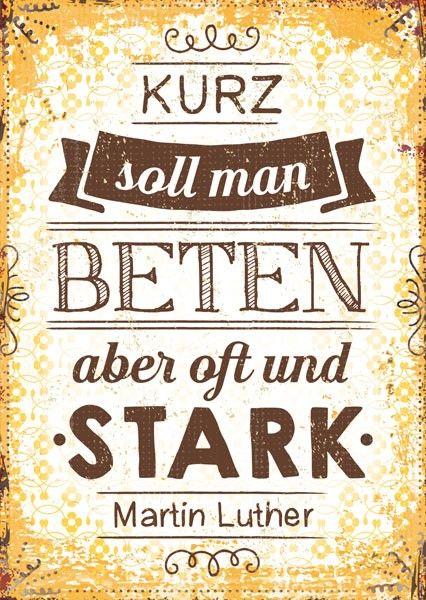 Postkarte - Stark Beten