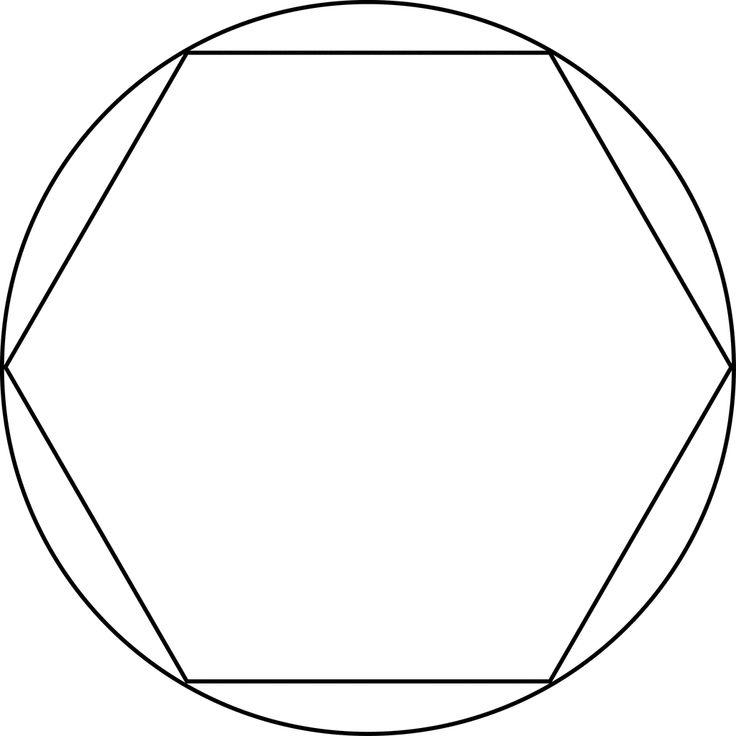 Regular Hexagon Inscribed In A Circle | Regular hexagon ...