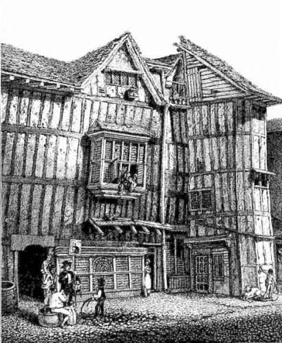 An Elizabethan house on Grub Street, London