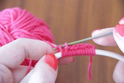 Haken snoer gekleurd strijkijzer snoer DIY - How to crochet lamp cable colored coloured